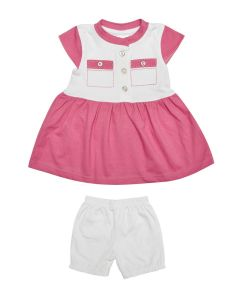 Ekta Frock with Bloomer for Baby Girls