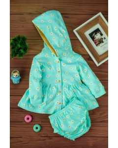 Biugo Frock with Cap & Bloomer for Girls