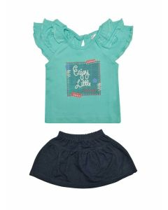 Things Top with Skirt for Baby Girls