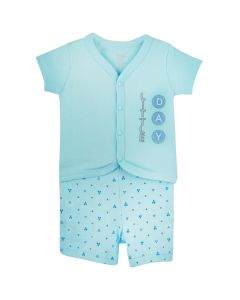 MODRICS Top and Shorts for Baby Boys Blue